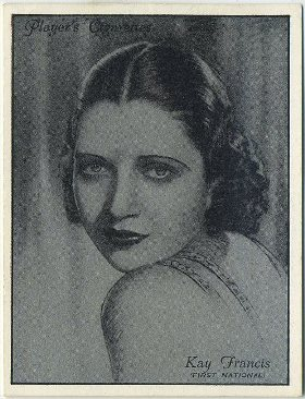 Kay Francis 1934 Player Tobacco Card