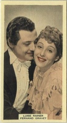 Luise Rainer and Fernand Gravet 1939 A and M Wix Tobacco Card