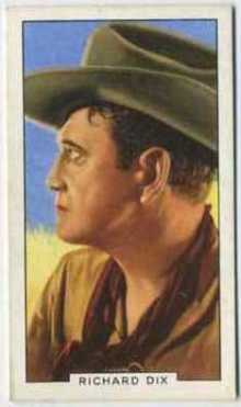 Richard Dix 1935 Gallaher Portraits of Famous Stars Tobacco Card