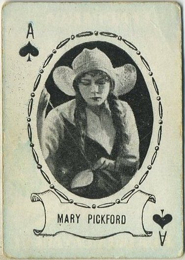 Mary Pickford 1920 Granado and Sons Playing Card