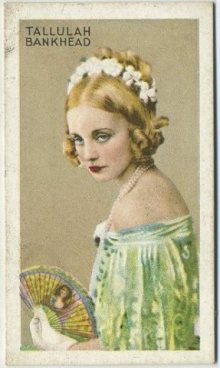 Tallulah Bankhead 1934 Gallaher Champions of Stage and Screen Tobacco Card