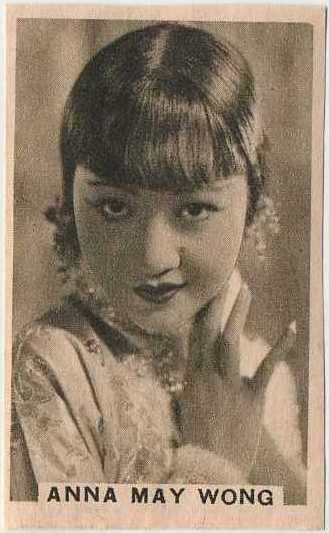Anna May Wong 1930s Schoolgirls Stars of the Silver Screen paper stock trading card