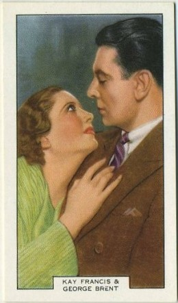 Kay Francis and George Brent Summit Screen Lovers Card