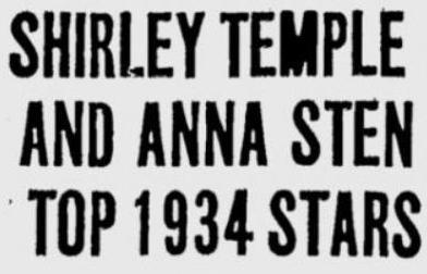 Headline St Petersburg Times January 7 1935 page 20