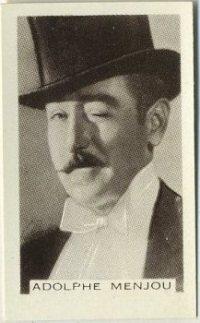 Adolphe Menjou 1936 Facchinos Trading Card