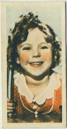 Shirley Temple 1934 Godfrey Phillips Tobacco Card