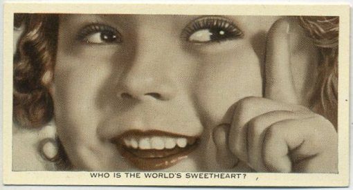 Shirley Temple 1936 Ardath Who Is This Card