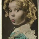 Shirley Temple color toned postcard