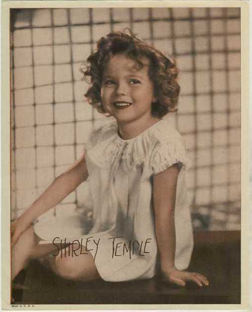 Shirley Temple circa 1935 Premium Photo