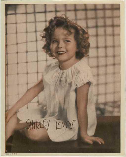Shirley Temple circa 1935 Premium Photo