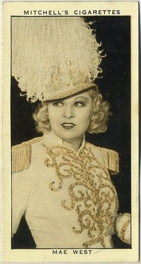 Mae West Mitchell A Gallery of 1934 Tobacco Card