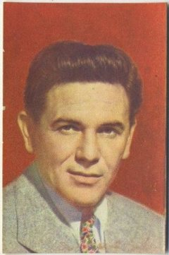 John Garfield 1951 Artisti del Cinema Trading Card