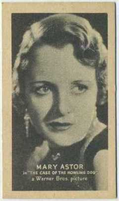 Mary Astor 1934 Golden Grain Tobacco Card