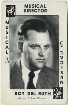 Director Roy Del Ruth on a 1938 Movie Millions Game Card