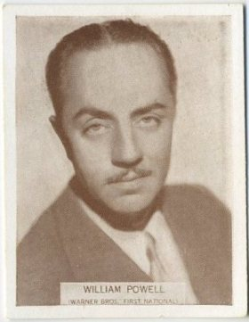 William Powell 1934 Wills Famous Film Stars Tobacco Card