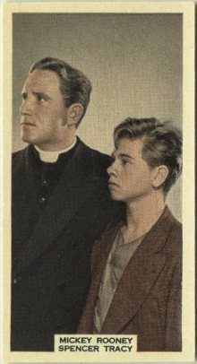 Spencer Tracy and Mickey Rooney 1939 A and M Wix Tobacco Card