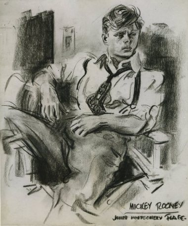 Mickey Rooney by James Montgomery Flagg