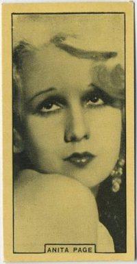 Anita Page 1932 BAT Cinema Artistes Tobacco Card