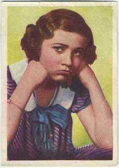 Edith Fellows 1936 Nestle Stars of the Silver Screen Trading Card