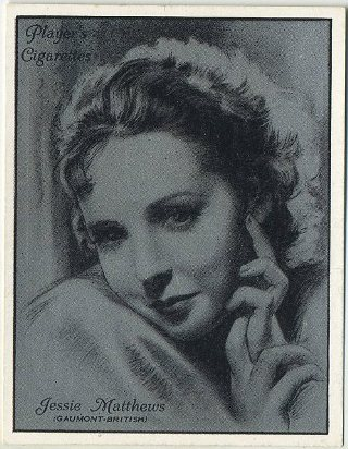 Jessie Matthews 1934 Players Film Stars Tobacco Card