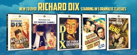 5 new Richard Dix titles at Warner Archive