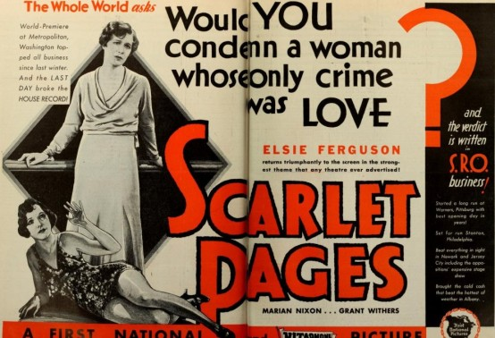 Scarlet Pages 1930 trade ad