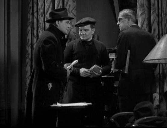 Richard Dix, Paul Hurst and Boris Karloff