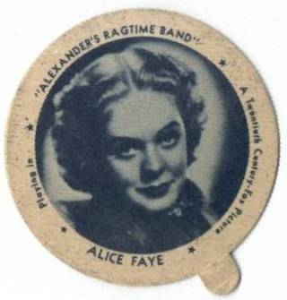Alice Faye Dixie Cup Lid