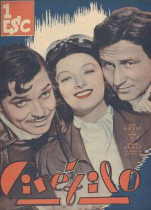 Cinefilo Magazine November 11 1938 Clark Gable Myrna Loy Spencer Tracy