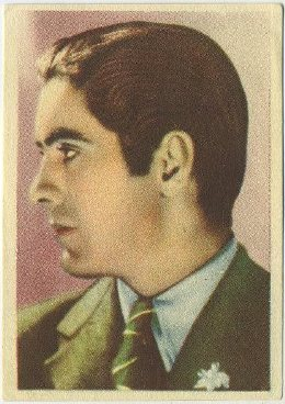 Tyrone Power 1930s Editorial Bruguera Trading Card