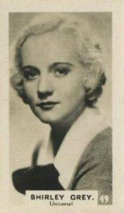 Shirley Grey 1934 Bridgewater Trading Card