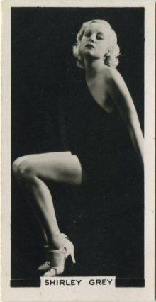 Shirley Grey 1938 Carreras Film Stars