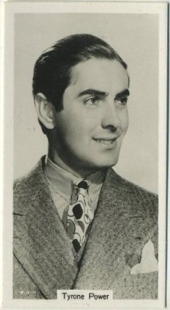 Tyrone Power 1939 RJ Lea Tobacco Card