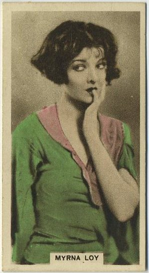 Myrna Loy 1934 Cinema Stars Tobacco Card