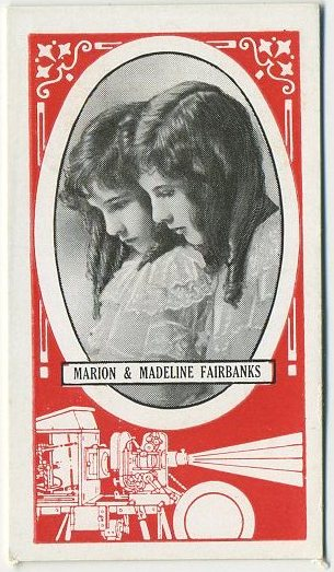 Marion and Madeline Fairbanks 1916 Wills Scissors Cinema Stars Tobacco Card