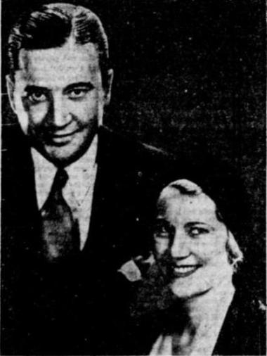 Richard Dix and wife The Reading Eagle September 27 1933 page 1