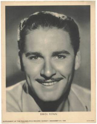 Errol Flynn M23 Philadelphia Record Supplement Photo