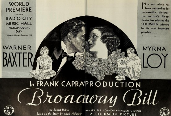 Broadway Bill 1934 Trade Ad