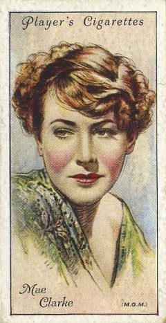 Mae Clarke 1934 Player Film Stars Series 2