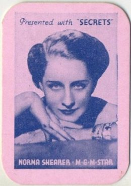 Norma Shearer 1935 Secrets Mini Playing Card