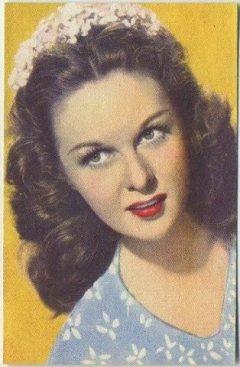 Susan Hayward 1951 Artisti de Cinema Trading Card
