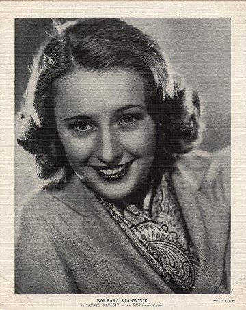 Barbara Stanwyck 1936 R95 8x10 Premium Photo