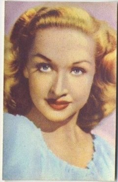Bonita Granville 1951 Artisti del Cinema Trading Card