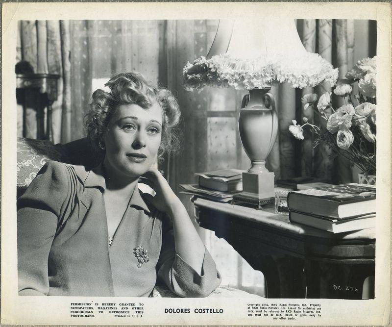 Dolores Costello 1942 RKO Promotional Photo DC-276