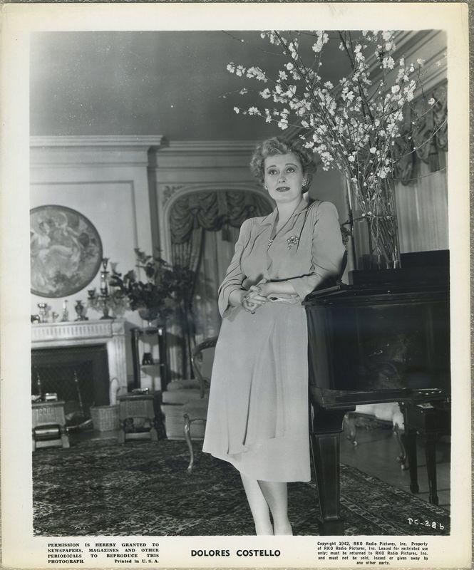 Dolores Costello 1942 RKO Promotional Photo DC-286