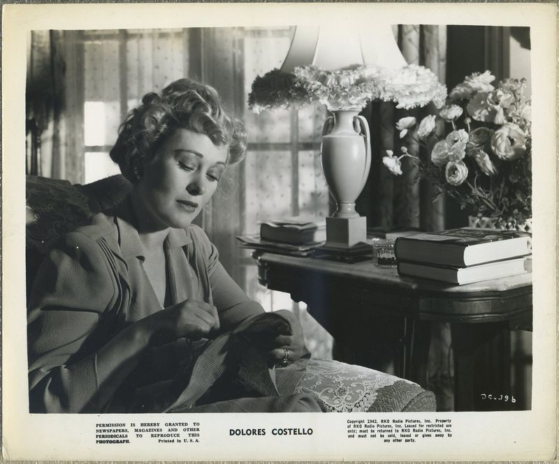Dolores Costello 1942 RKO Promotional Photo DC-396