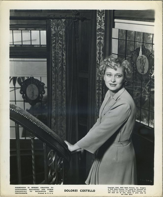 Dolores Costello 1942 RKO Promotional Photo DC-406