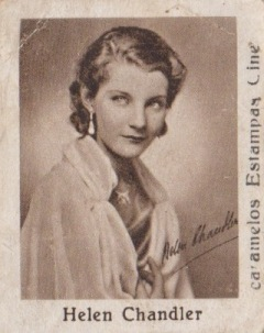 Helen Chandler 1934 Caramelos Estampas Movie Star Stamp
