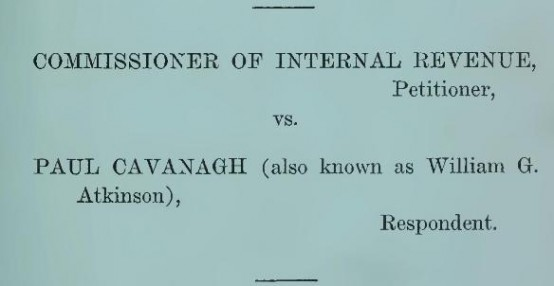 bureau of internal revenue versus paul cavanagh