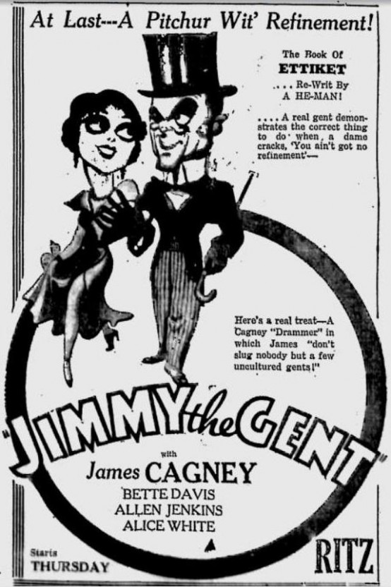 Jimmy the Gent newspaper advertisement